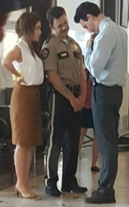 Emilia Clarke, on location in Kentucky as Susan Smith