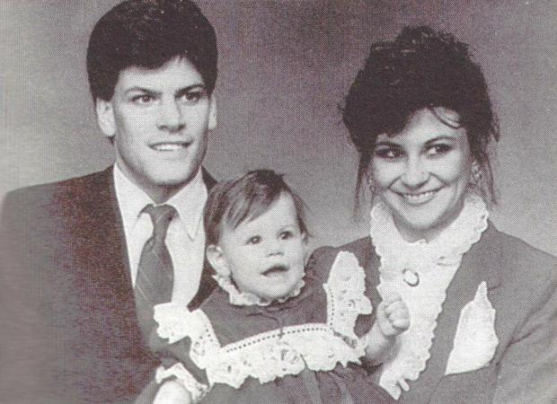 Mark and Kathy Putnam, with daughter Danielle, in 1987.